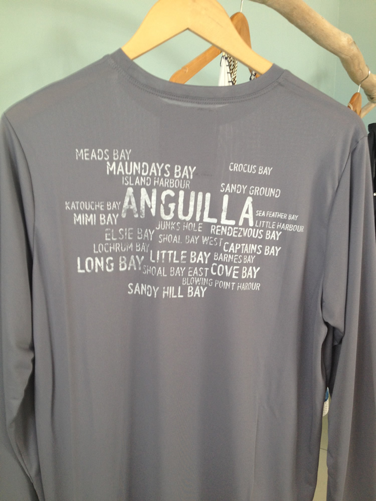 Anguilla Beaches Suntek SPF 50 Shirt (back)