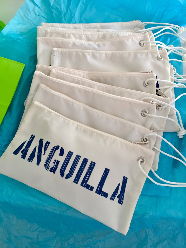 Large Anguilla Wristlets with Weathered Font